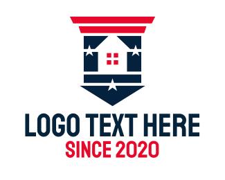 Patriot - Star Patriotic House  logo design