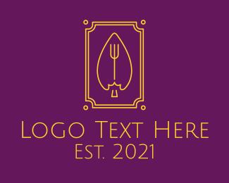 Gourment - Luxurious Leaf Trident logo design