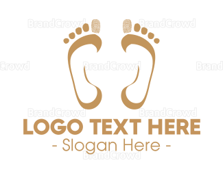 Chiropodist - Footprint Mark logo design