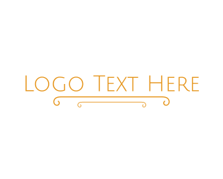 Conglomerate - Gold Classical Wordmark logo design