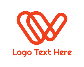 Name - Orange Clip W logo design