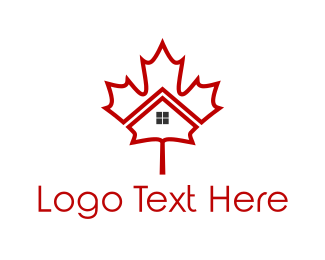 Ontario - Maple House logo design