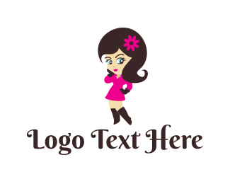 Sexy - Charming Girl logo design