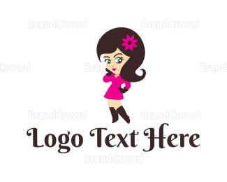 Erotic - Charming Girl logo design