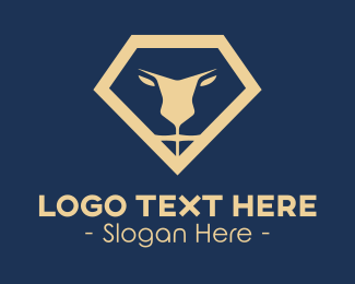 Safari Park - Elegant Lion Diamond logo design