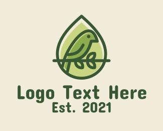 Eagle - Wild Bird Droplet logo design