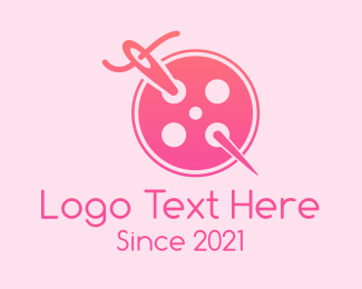 Thread - Needle Button logo design