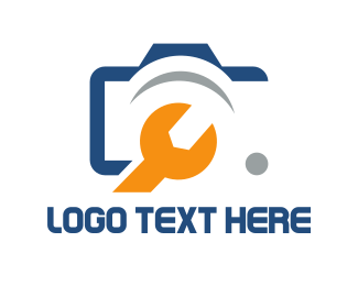 Mechanical - Camera & Wrench logo design