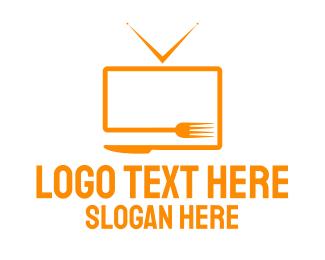 Tv - Food Tv logo design