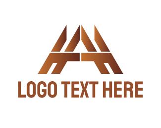 Carpentry - Gold Tech A logo design