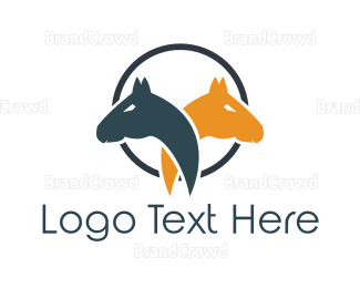 Duo - Horse Couple logo design