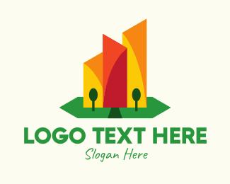 Design - Geometric Skyscraper Design logo design