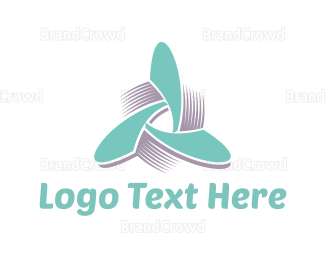 Rotation - Propeller Triangle logo design