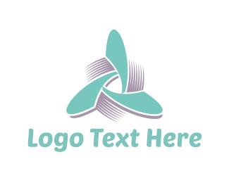 Wind - Propeller Triangle logo design