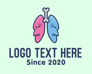 Patient - Respiratory Lungs Faces logo design