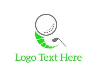 Golf Tournament - Golf Ball & Club logo design
