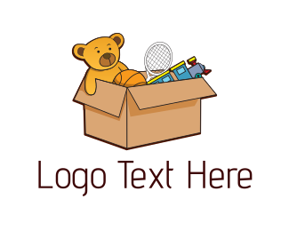 Crate - Toy Box logo design