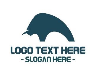 Bull - Bull Silhouette logo design