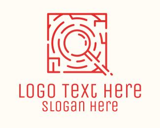 Detective - Maze Search Investigation logo design