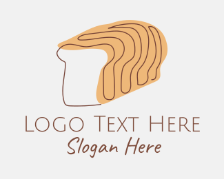 Toasted - Bread Loaf Line Art logo design