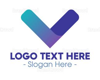 Banking - Modern Blue Gradient Letter V logo design