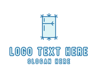 Heating And Cooling - Icy Fridge logo design