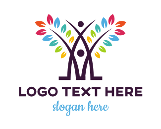 Pride - Colorful Abstract Tree logo design