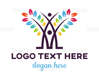 Diversity - Colorful Abstract Tree logo design