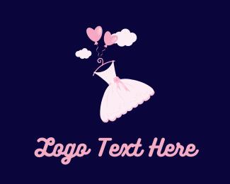Ribbon - Pink Dress  logo design