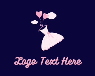 Girl - Pink Dress  logo design