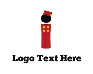 Waiter - Bellhop Character logo design