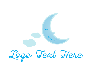 Nap - Sleepy Moon logo design