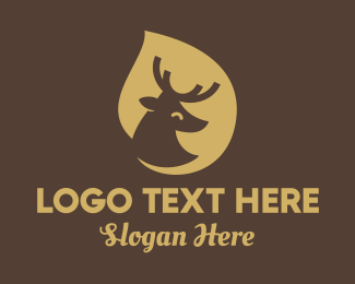 Deer - Deer Drop Shadow logo design