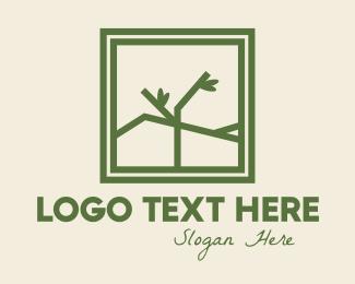 Frame - Eco Branch Frame logo design