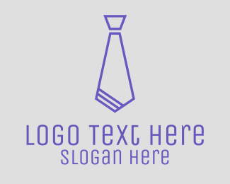 Recruiter - Blue Stylish Tie logo design
