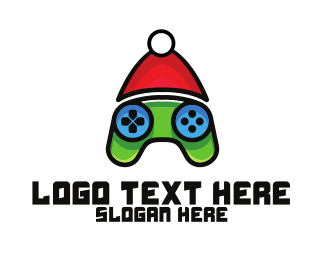 Present - Christmas Gamer  logo design