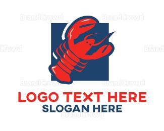 Crustacean - Red Lobster logo design