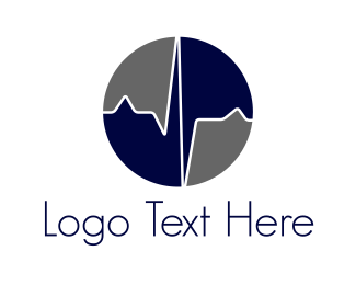 Healthcare - Blue Heartbeat  logo design