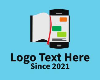 Online Learning - Online Mobile Book logo design