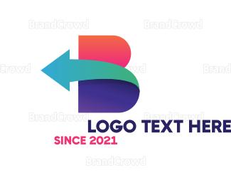 Back - Colorful Bold B Arrow logo design