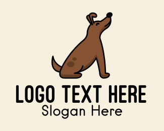 Pet Accessories - Happy Sitting Dog  logo design