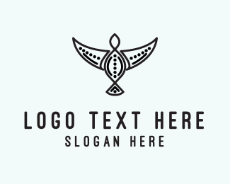 Peace - Tribal Bird logo design