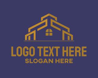 Gold - Golden House logo design