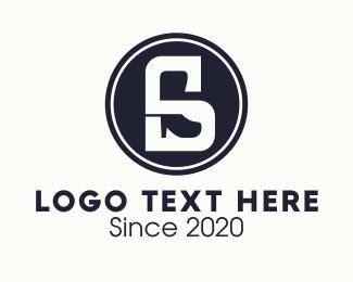 Black Shoe Letter S Logo