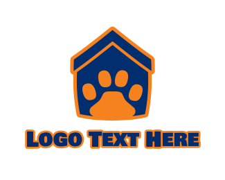 Cat And Dog - Pet House logo design