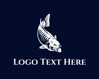 Bass - White Fish logo design