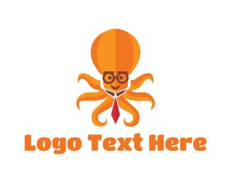 Specs - Multitasking Octopus logo design