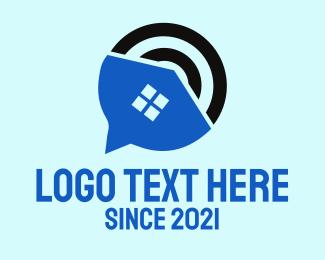 Smart Home - House Signal logo design
