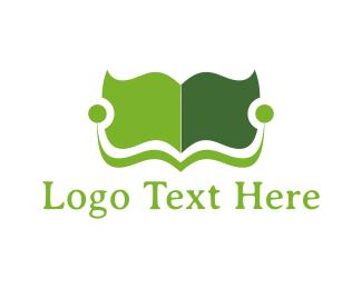 Book Fair - Green Book logo design