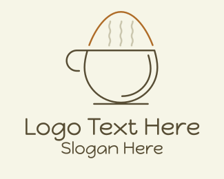 Egg - Egg Cafe Brew logo design